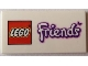 Part No: 87079pb0124  Name: Tile 2 x 4 with LEGO Friends Logo with Butterfly Pattern