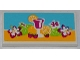 Part No: 87079pb0129  Name: Tile 2 x 4 with Drink, Fruits and Flowers Pattern (Sticker) - Set 41008