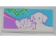 Part No: 87079pb0131  Name: Tile 2 x 4 with Hedgehog and Dog Pattern (Sticker) - Set 3188