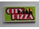 Part No: 87079pb0143  Name: Tile 2 x 4 with 'CITY PIZZA' and Skyline Pattern (Sticker) - Set 60026