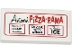 Part No: 87079pb0161  Name: Tile 2 x 4 with 'Antonio's PIZZA-RAMA' Advertising Pattern (Sticker) - Set 79104