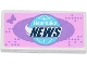 Part No: 87079pb0162  Name: Tile 2 x 4 with Butterfly and Globe with 'Heartlake NEWS' Pattern (Sticker) - Set 41056