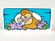 Part No: 87079pb0301  Name: Tile 2 x 4 with Tan Horse and Pink Flowers on Medium Azure Board Pattern
