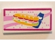 Part No: 87079pb0314  Name: Tile 2 x 4 with Sandwich and Blue Drink Bottle with Magenta Border Pattern (Sticker) - Set 41058