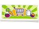 Part No: 87079pb0322  Name: Tile 2 x 4 with Apple, Carrot, Shopping Cart / Trolley, Milk Carton and Cupcake Pattern (Sticker) - Set 41118