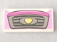 Part No: 87079pb0351  Name: Tile 2 x 4 with Car Front Grille with Yellow Heart Pattern