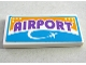 Part No: 87079pb0437  Name: Tile 2 x 4 with Medium Lavender 'Airport' and White Airplane Pattern (Sticker) - Set 41109
