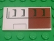 Part No: 87079pb0447R  Name: Tile 2 x 4 with SW White and Dark Red Tank Armor Pattern Model Right (Sticker) - Set 75182