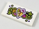 Part No: 87079pb0449  Name: Tile 2 x 4 with Fruit, Sorbet, and Tropical Drink Pattern (Sticker) - Set 41313