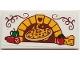 Part No: 87079pb0615  Name: Tile 2 x 4 with Brick Oven and Heart with Pizza, Pepper, Pepperoni, Tomato and Cheese Pattern (Sticker) - Set 41311