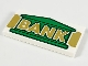 Part No: 87079pb0724  Name: Tile 2 x 4 with Green Bank Building and Gold 'BANK' Pattern