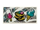 Part No: 87079pb0790  Name: Tile 2 x 4 with Ice Cream Cone, Ice Pop (Freezer / Lollipop / Lolly / Pole / Popsicle / Stick) and Waffles Pattern (Sticker) - Set 41375