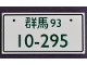 Part No: 87079pb0899  Name: Tile 2 x 4 with Dark Green '93' and '10-295' License Plate Pattern
