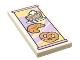 Part No: 87079pb0913  Name: Tile 2 x 4 with Pie, Croissant and Pretzel Menu Pattern