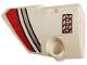 Part No: 87080pb052  Name: Technic, Panel Fairing # 1 Small Smooth Short, Side A with Red and Silver Stripes and 'NO STEP' Pattern (Sticker) - Set 42057