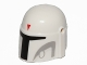 Part No: 87610pb07  Name: Minifigure, Headgear Helmet with Holes, SW Mandalorian with Red Triangle and Light Bluish Gray Pattern