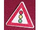 Part No: 892pb002  Name: Road Sign Clip-on 2 x 2 Triangle with Traffic Light Pattern