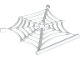 Part No: 90981  Name: Animal, Accessory Spider Web with Bar