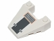 Part No: 93348pb001  Name: Wedge 4 x 4 Taper with Stud Notches with SW Snowspeeder Vent, Light and Dark Bluish Gray Grille Pattern (Sticker) - Set 75014