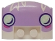 Part No: 93604pb04  Name: Wedge 3 x 4 x 2/3 Triple Curved Smooth with Smiling Face Headlights Pattern