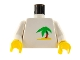 Part No: 973pb0017c01  Name: Torso Paradisa Palm Tree Pattern / White Arms / Yellow Hands