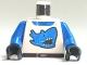 Part No: 973pb0022c01  Name: Torso Racers Race Shark Blue Pattern / Blue Arms / Black Hands
