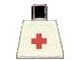Part No: 973pb0033  Name: Torso Hospital Red Cross Plain Pattern (Sticker)