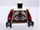 Part No: 973pb0509c01  Name: Torso SW Armor Clone Trooper with Dark Red Markings and Belt Pattern / Dark Red Arms / Black Hands