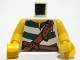 Part No: 973pb0521c01  Name: Torso Pirate Green Stripes and Leather Straps Pattern / Yellow Arms / Yellow Hands