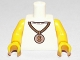Part No: 973pb0786c01  Name: Torso Gold Medallion with Dollar Sign Pattern / Yellow Arms / Yellow Hands