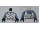 Part No: 973pb0968c01  Name: Torso SW Wolfpack Clone Trooper Pattern / Sand Blue Arms / Black Hands