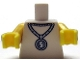 Part No: 973pb1232c01  Name: Torso Metallic Silver Medallion with Dollar Sign Pattern / Yellow Arms / Yellow Hands