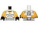 Part No: 973pb1266c01  Name: Torso SW Armor Clone Trooper with Bright Light Orange Markings Pattern / Bright Light Orange Arms / Black Hands