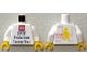 Part No: 973pb1918c01  Name: Torso Lego HMV Production Factory Tour Pattern / White Arms / Yellow Hands