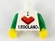 Part No: 973pb1941c01  Name: Torso I Brick LEGOLAND Pattern / Green Arms / Yellow Hands