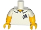 Part No: 973pb1999c01  Name: Torso Simpsons Shirt with Pens in Pocket and Collar Outline Pattern / Yellow Arms with White Short Sleeves Pattern / Yellow Hands