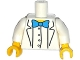 Part No: 973pb2000c01  Name: Torso Simpsons Lab Coat with Blue Bow Tie Pattern / White Arms / Yellow Hands