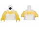 Part No: 973pb2229c01  Name: Torso Female Bodice with Thin Straps over Yellow Skin Pattern / Yellow Arms / Yellow Hands