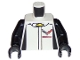 Part No: 973pb2262c01  Name: Torso Race Suit with Chevrolet Logos on Front and 'CORVETTE RACING' on Back Pattern / Black Arms / Black Hands