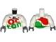 Part No: 973pb2306c01  Name: Torso Octan Logo Race Suit with Silver Zipper Pattern / White Arms / Dark Bluish Gray Hands