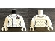 Part No: 973pb2848c01  Name: Torso SW Checkered Jacket with White Undershirt and Belt Pattern (Leia) / White Arms / White Hands
