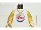 Part No: 973px126c01  Name: Torso Paradisa Windsurf Board with Sunset Pattern / Yellow Arms / Yellow Hands