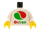 Part No: 973px130c01  Name: Torso Octan Logo Pattern / White Arms / Yellow Hands