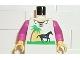 Part No: 973px5c01  Name: Torso Paradisa Horse Pattern / Dark Pink Arms / Yellow Hands
