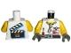 Part No: 973px75c01  Name: Torso Studios Grip Sunglasses, Screwdriver, Film Slate on Back Pattern / Yellow Arms / Dark Gray Hands