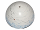 Part No: 98107pb07  Name: Cylinder Hemisphere 11 x 11, Studs on Top with Hoth White / Medium Blue / Light Bluish Gray Planet Pattern (75009)