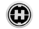 Part No: 98138pb018  Name: Tile, Round 1 x 1 with Hero Factory 'H' Pattern