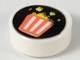 Part No: 98138pb152  Name: Tile, Round 1 x 1 with Coral Striped Popcorn Bucket on Black Background Pattern