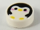 Part No: 98138pb162  Name: Tile, Round 1 x 1 with Penguin with Yellow Beak and Feet and Bright Pink Cheeks Pattern