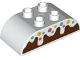 Part No: 98223pb027  Name: Duplo, Brick 2 x 4 Curved Top with Frosting and Sprinkles over Reddish Brown Cake Pattern